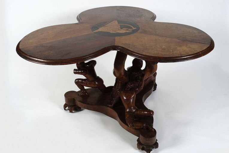 Shamrock table made by Cork Cabinet maker John Fletcher in 1852