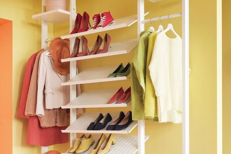 An Ikea organised wardrobe