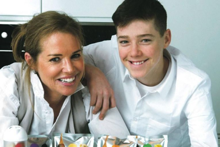 Yvonne Dolan, founder of Blendi Smoothies and her son Shane