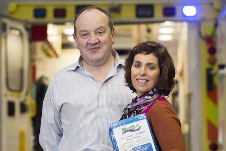 Founders of Critical Healthcare, Seamus Reilly and Dr Anne Cusack