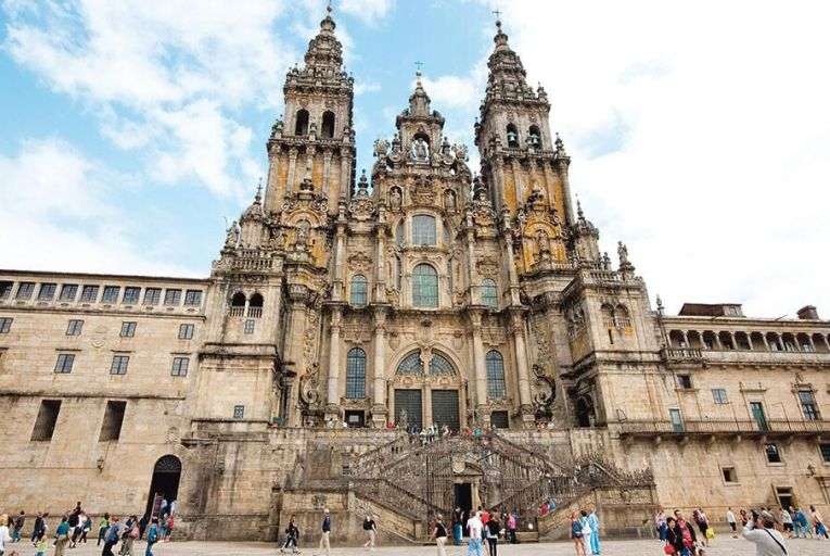 The 1,000-year-old Cathedral of Santiago de Compostela