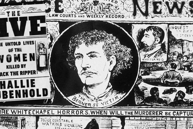 An illustrated Police News reports details  of the Jack the Ripper murders