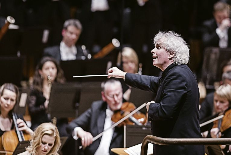 Simon Rattle: the renowned conductor accused Britain of becoming a 'self-built cultural jail'. Picture: Tristram Kenton