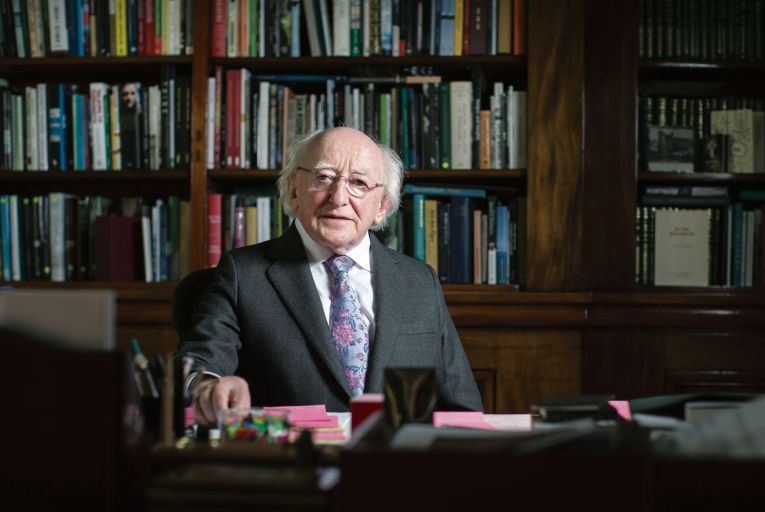 Higgins told reporters that he wasn't comfortable celebrating 'the partition  of Ireland'. Picture: Fergal Phillips