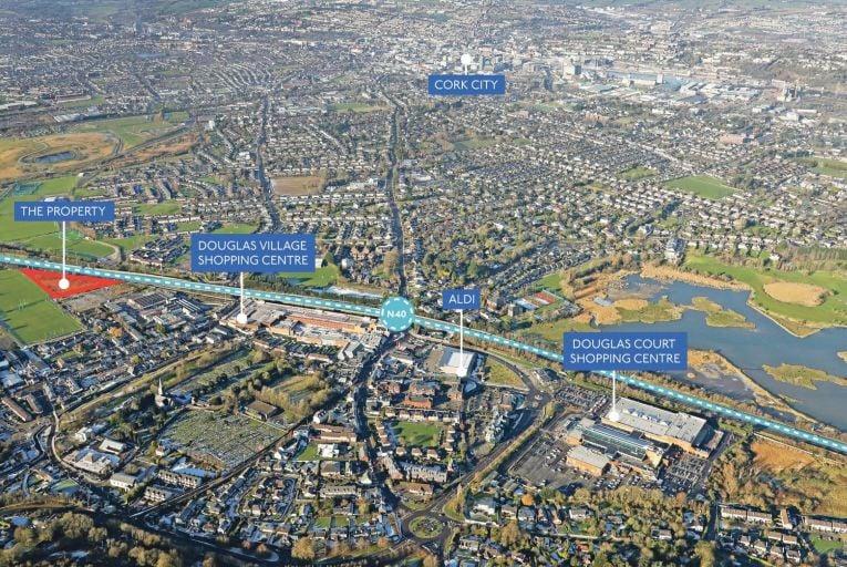 A prime development site has come to market in Douglas, Cork with a guide price of €1.8 million