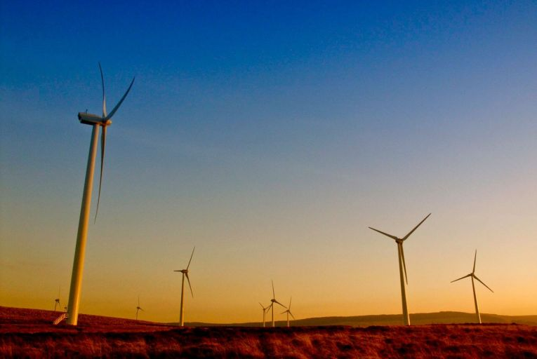 The Beam Hill wind farm, which has an installed power capacity of 14 megawatts (MW), is a so-called merchant wind farm. Picture: Getty