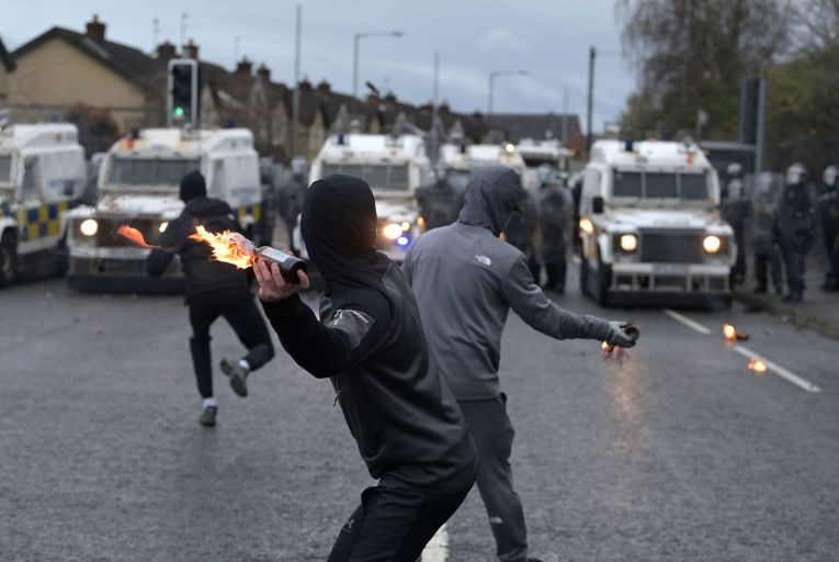 Recent violence in the North has been depicted as having been sparked by DUP rhetoric but this is not the whole story. Picture: Charles McQuillan/Getty