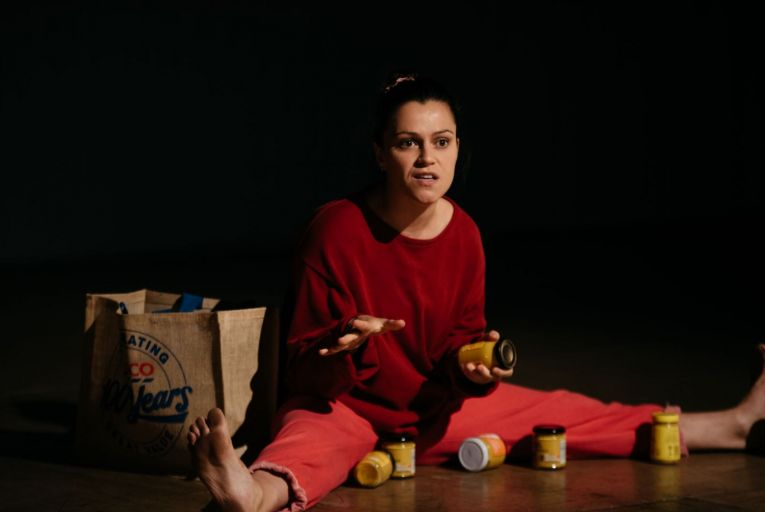 Eva O'Connor in Mustard, a play more about madness than heartbreak. Picture: Jassy Earl