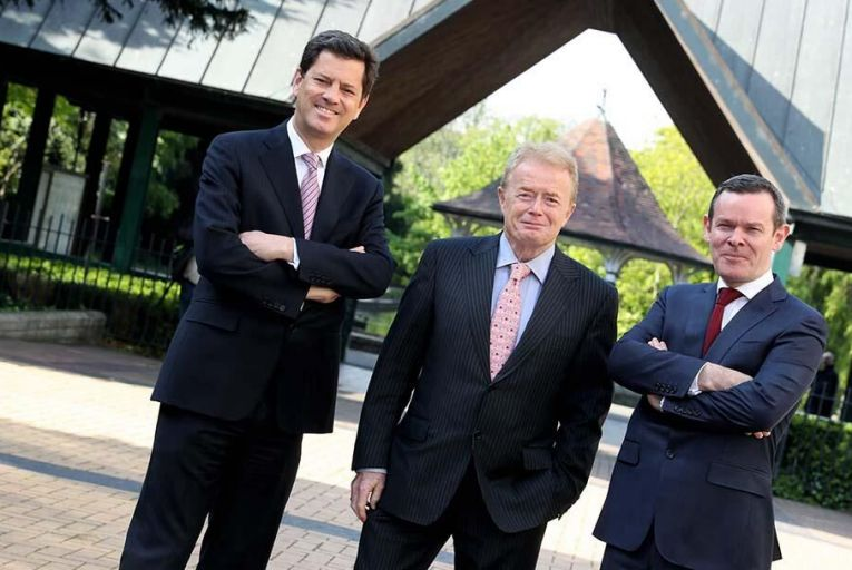 (l-r) Tony Smurfit, Liam O\'Mahony and Ken Bowles Pic: Maxwell Photography