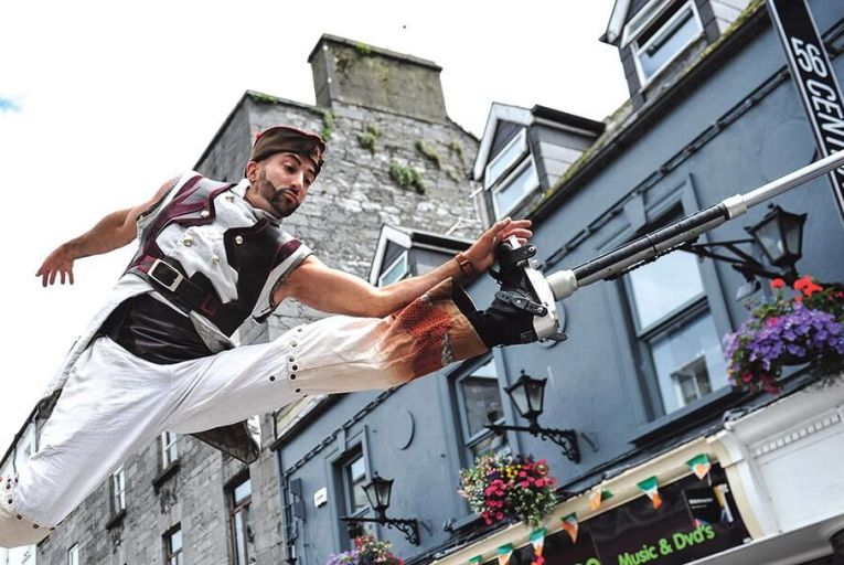 Sky Conquest performing as part of the Galway International Arts Festival PIc: Boyd Challenger