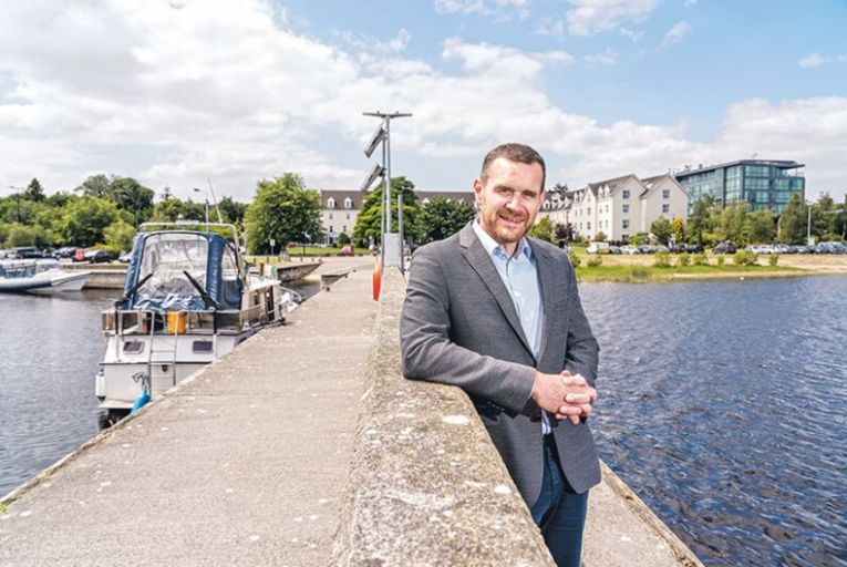 Johnny O'Sullivan, director of operations at the Hodson Bay group, which has bought 145 acres of woodland and two islands. Picture: Barry Cronin