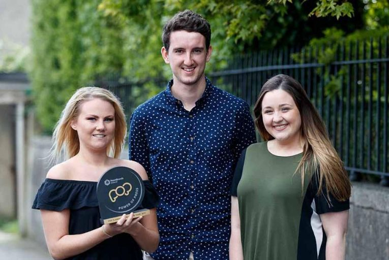 The winners are: Haylee Rowan, Conor McCooey and Laura Murphy Pic: Andres Poveda
