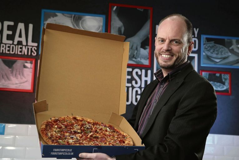 Brian Clarke, director at Four Star Pizza: 'When times are tricky, and people are anxious, I think some do gravitate more towards brands they know.' Credit: Press Eye/Darren Kidd