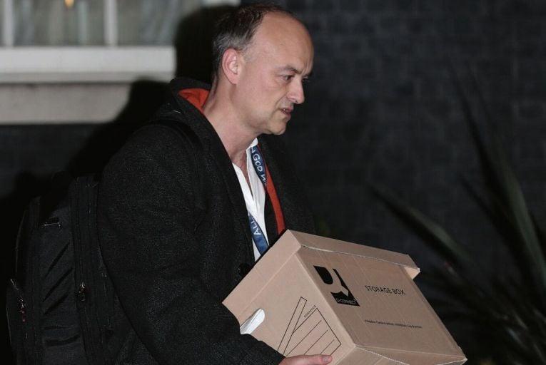 Dominic Cummings, Boris Johnson's senior adviser, leaving 10 Downing Street. Credit: Sky News