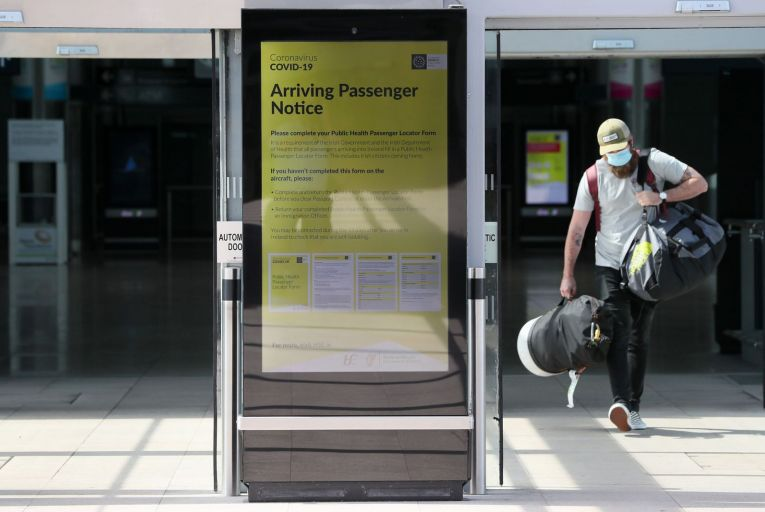 Passengers arriving from red regions, which account for the majority of the EU at present, are required to restrict their movements for 14 days