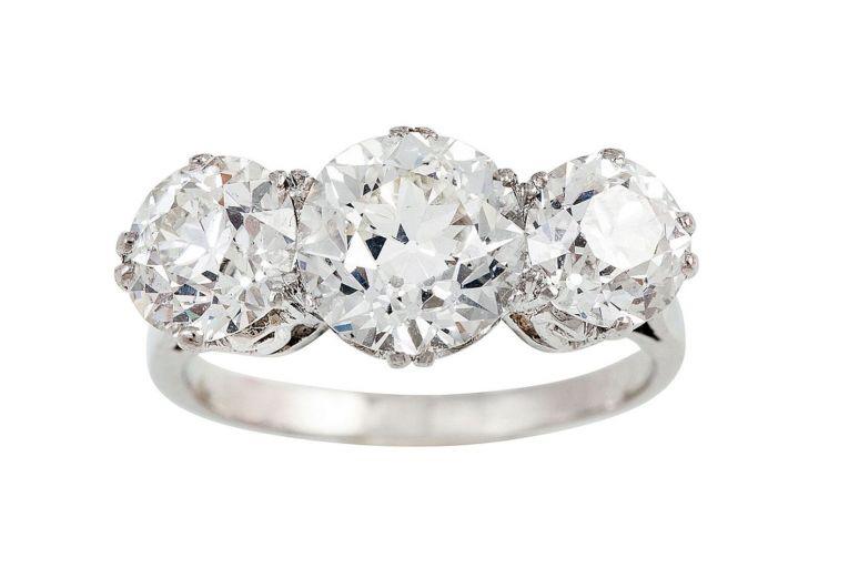 Object of Desire: Three-stone diamond ring