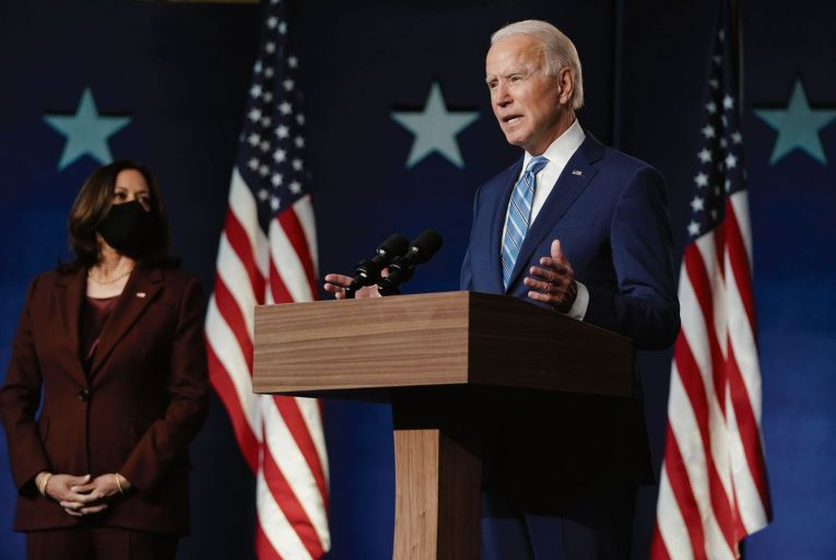 Joe Biden and his running mate, Kamala Harris: predictions of a landslide win for the Democratic candidate were wide of the mark