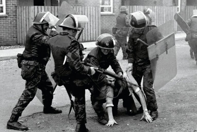 A picture taken from The Ballymurphy Precedent, a documentary about the murder by the British Army of 11 citizens in Belfast in 1971