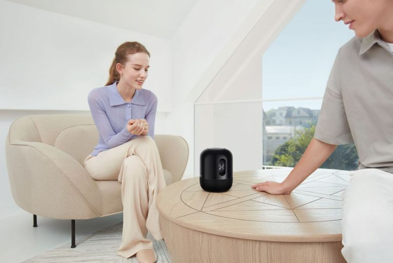 The Huawei Sound speaker sounds great but leaves listeners bothered and bewildered