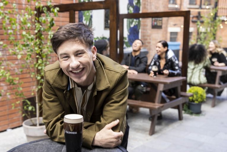 Actor Barry Keoghan during filming of the new Guinness ad in The Duke of York pub, Belfast. Picture: Andres Poveda
