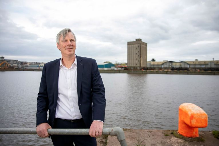 Pat Keating, chief executive of Shannon Foynes Port Company pictured at Limerick Port. Picture: Arthur Ellis