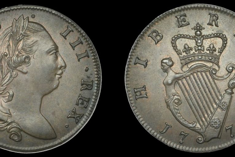 In 2021 a 1774 half penny is a very different kettle of coinag