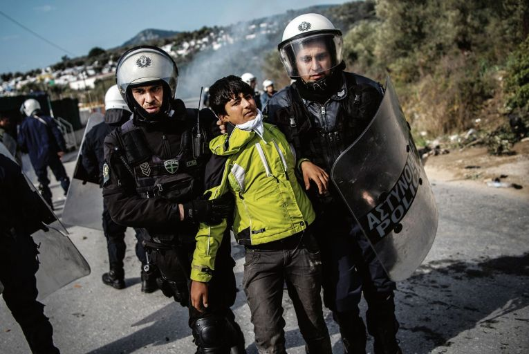 The Greek islands have effectively become detention centres for migrants. Picture: Getty