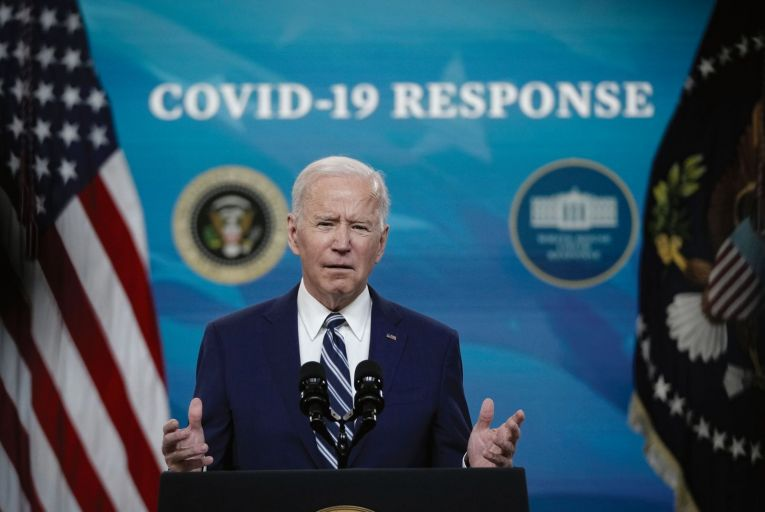 Joe Biden: the US president is bidding to win back working class voters who have moved to the Republicans Picture: Getty