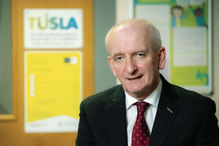 Bernard Gloster, chief executive of Tusla: 'We are potentially going to offer every graduate of social work in Ireland next year a job if they wish.' Picture: Alan Place