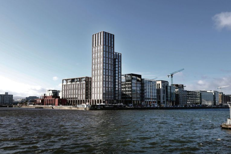 Capital Dock in Dublin 2, where some apartments are being advertised for a headline rate of €4,200 per month, but are being offered with one month free