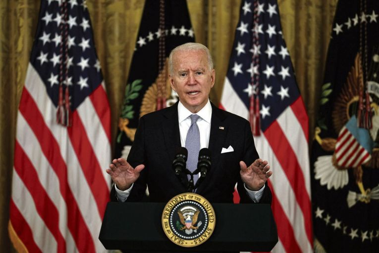 Joe Biden: the infrastructure bill, if signed into law, will be his second significant legislative achievement. Picture: Getty