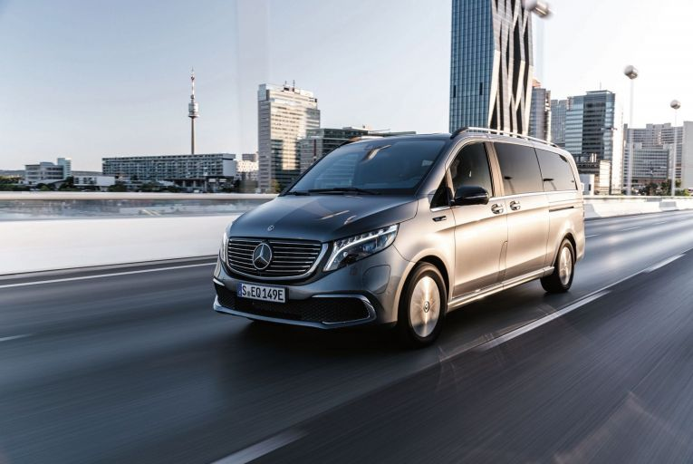 The Mercedes EQV: prices start from €95,955