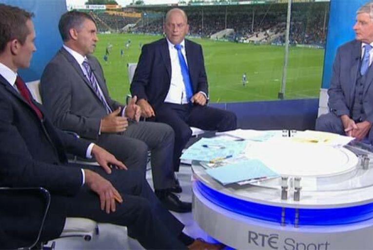 Liam Sheedy (second left) Picture: RTE