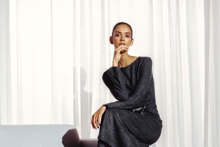 Weekend Maxmara grey wool dress, €240, Arnotts