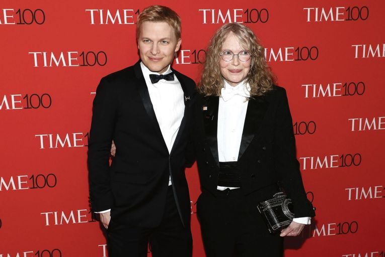 Journalist Ronan Farrow, pictured with his actress mother Mia Farrow, has been accused of failing to corroborate allegations in his reporting. Picture: FilmMagic