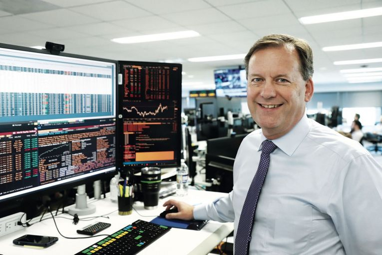 Gerry O'Reilly: the former Olympian oversees a team of 12 traders who collectively manage $5 trillion worth of financial assets for investment fund Vanguard. Picture: Christopher Descano