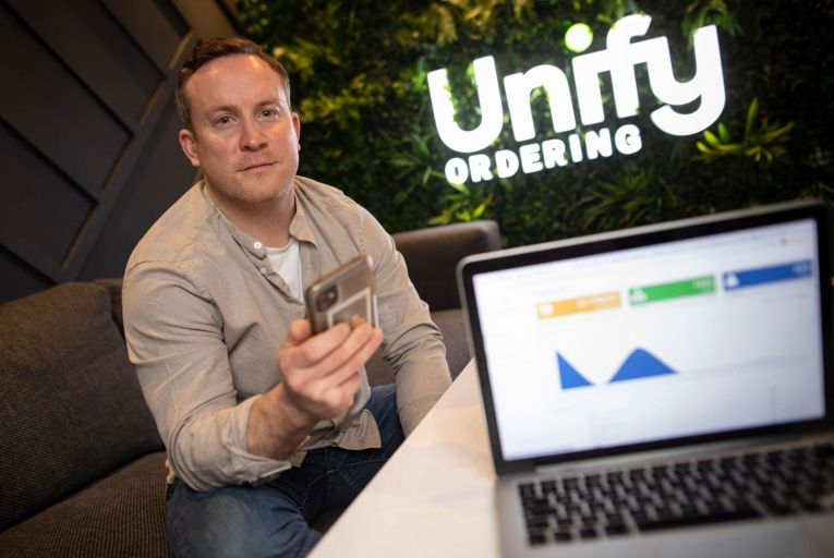 Barry McNerney, chief executive and co-founder of Unify Ordering: 'The market is open to disruption. We're ready now to tap into that opportunity.' Picture: Fergal Phillips