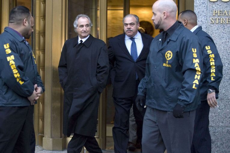 Bernie Madoff (left): swindled investors out of billions Bloomberg