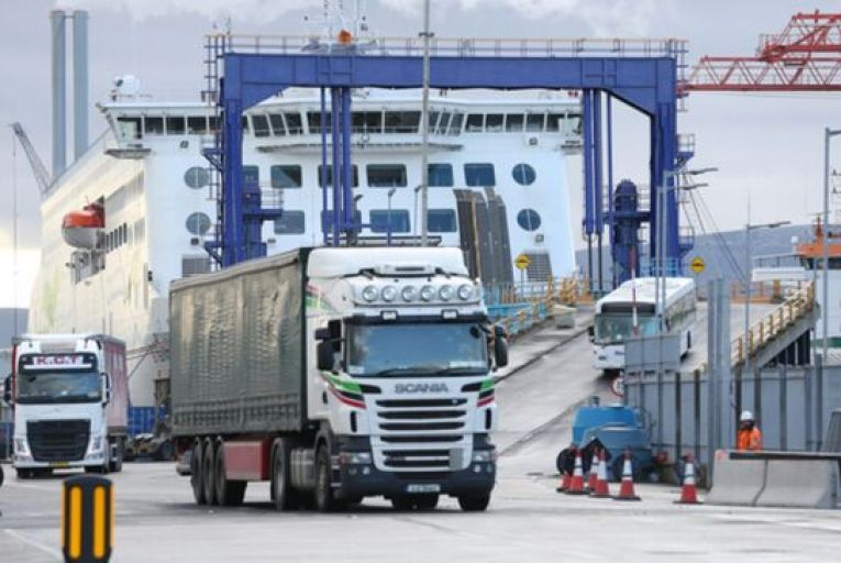 Dublin Port has space for up to 250 trucks to park up while inspections are carried out but so far but no more than 70 lorries have so far been delayed at any one time. Picture: Getty