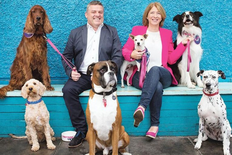 Tom Brennan and  Louise Grubb,   co-founders of animal  therapeutics start-up  TriviumVet   Picture: Richie Stokes