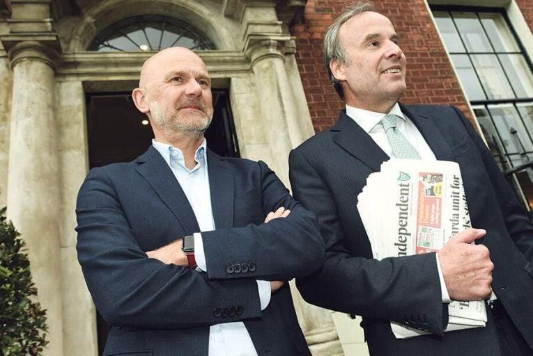Gert Ysebaert, chief executive, and Thomas Leysen, chairman, Mediahuis: eyes wide open Pic: Bryan Meade