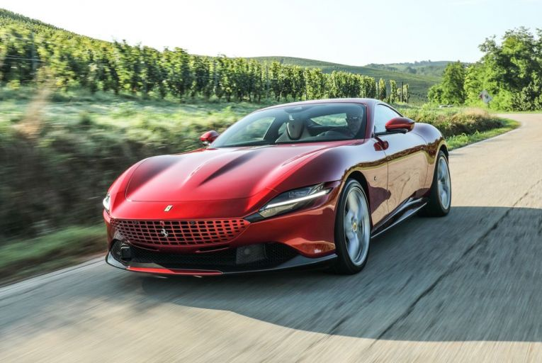 The Ferrari Roma's styling is reminiscent of models from the company's illustrious past