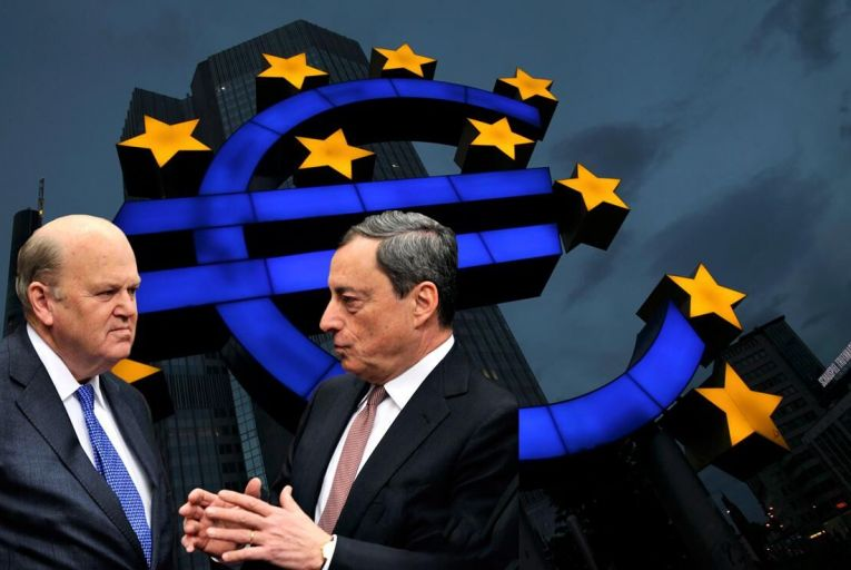 ECB chief Mario Draghi will unveil new forecasts next week. Pic: Getty
