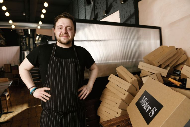 Dan Hannigan, head chef at Mister S: the restaurant has been expanding both its range of options and its delivery areas. Picture: Bryan Meade