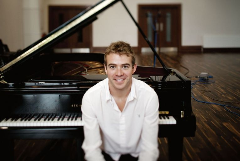 Fiachra Garvey, pianist and founder of West Wicklow Festival which will be streamed online this year. Photo: Alan Place/Press 22.