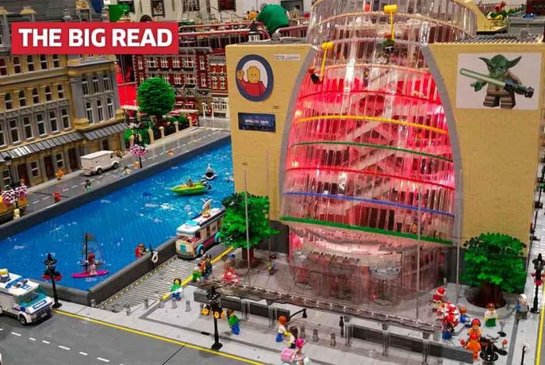 Dave Fennell\'s Lego model of Dublin\'s Convention Centre which took nine months to complete Pic: Getty