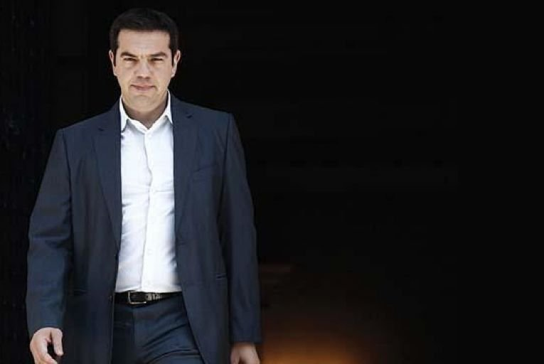 Alexis Tsipras, Greece\'s prime minister, leaving Maximos Mansion in Athens this weekend Picture: Kostas Tsironis/Bloomberg