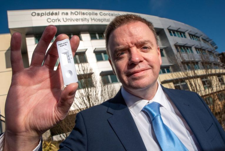 Finbarr Kenny, director of Roche Ireland, says it is a key moment for rapid tests Picture: John Allen