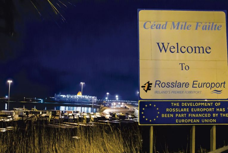 Rosslare Europort: huge increase in business as truckers try to avoid going through Britain