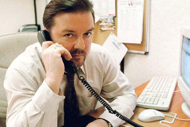 Ricky Gervais as David Brent in The Office: is a shorter working day a runner?